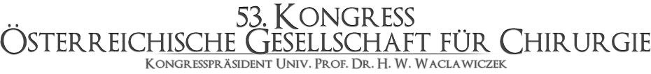 53. Kongress Österreichische Gesellschaft für Chirurgie